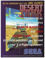 Sega Desert Tank Original Nos Video Arcade Game Advertising Sales Flyer Brochure
