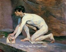 Male Nude Cotton Canvas Man Marble Polisher Toulouse Lautrec Erotic Art Print