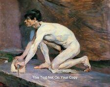 Male Nude Cotton Canvas Man Marble Polisher Toulouse Lautrec Erotic Art Print