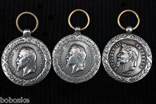 """Lot de trois médailles Napoléon III   """""""""""" Asie, Italie, Mexique """""""""""""""" (copies)"""