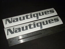 "Nautiques Boats Silver Decal 12"" Stickers (Pair)"