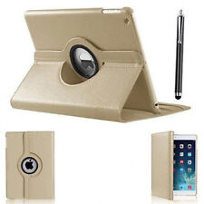 "iPad 360 Rotating Stand Case Cover for 2017 iPad 5th Generation 9.7""- Model Tempered Glass"