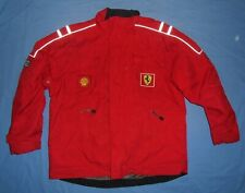 Ferrari F1 / early 2000's - vintage MENS red zip-up Storm Top / Jacket. Size XL