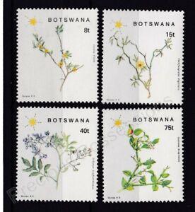 BOTSWANA MNH STAMP SET 1988 FLOWERING PLANTS OF SOUTH-EASTERN SG 665-668