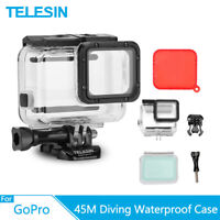 TELESIN 45M Waterproof Housing Case w/ Touch Screen + Red filter for Gopro 7 6 5