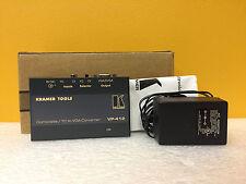 Kramer VP-412 (00-VP-412) Composite Y/C to VGA Converter, New + Power Supply!