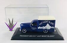 1/43 Altaya Voiture Publicitaire PEUGEOT 203 C8 Lait Mont Blanc