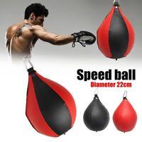 PU Speed Hang Ball Boxing Punch Bag Punching Training Gym MMA Swivel Speedball M