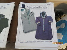 Designs by Louise Knitting Pattern #1 Baby Bunting Plain & Fancy 3-6 mos