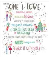 One I Love Christmas Greeting Card Embellished Special Xmas Cards