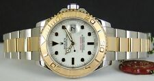 ROLEX 40mm 18kt Gold & Stainless Steel Yachtmaster White Dial 16623 SANT BLANC