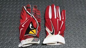 2016 David Johnson Arizona Cardinals Game Used Worn Nike NFL Football Gloves!