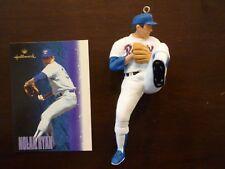 Nolan Ryan Hallmark Keepsake Ornament 1996 with Card MLB Baseball Texas Rangers