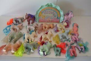 Vintage My Little Pony Lot So Soft Vinyl Horse 1980's G1 Collectible Toys 21 Pcs