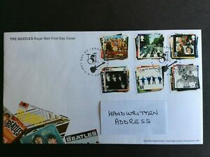 GB FDC 2009 Beatles Postmarked Liverpool