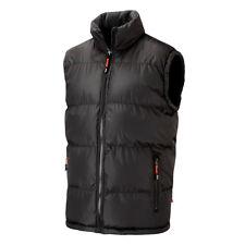 Lee Cooper Workwear Mens Black Grey Reversible Padded Vest Bodywarmer Size S-3XL