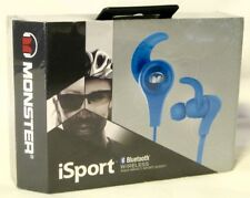 Monster iSport Bluetooth Wireless High Impact Sport Audio In-Ear Headphones BLUE