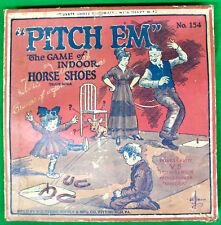 Original Vintage Wolverine Supply Pitch Em Indoor Horseshoe Game