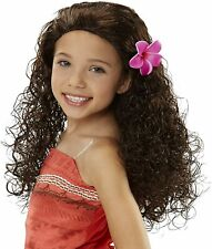 DISNEY MOANA'S HALLOWEEN COSTUME WIG WITH FLOWER ATTACHMENT NEW!