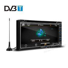 Double 2 DIN GPS Sat-Nav Car DVD Radio Stereo Freeview Digital TV VMCD SWC RDS