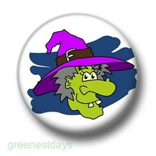 Halloween Witch 1 Inch / 25mm Pin Button Badge Hubble Bubble Goth Emo Cauldron