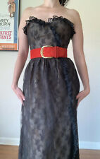 New listing Vintage Victor Costa Black Lace Sleeveless Dress Women's Size Medium