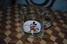 Mickey Mouse Magician Mickey 1937 Vintage collectible glass Disney 1985 Mug HTF