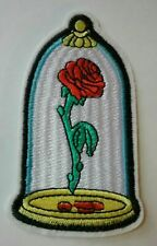 "Walt Disney's Beauty and the Beast Enchanted Rose Embroidered 3.75"" Patch"