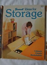 Ideas For Storage: Cabinets, Closets, Bookshelves by Sunset Books VTG (31)
