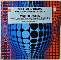 William Schuman Concerto for Piano & Orchestra Walter Piston SEALED LP Vinyl