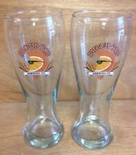 Shock Top Belgian White Beer 16 oz Pilsner Glass - Set of Two (2) - New Glasses
