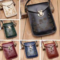 Women PU Leather Cross Body Messenger Shoulder Bag Mobile Phone Purse