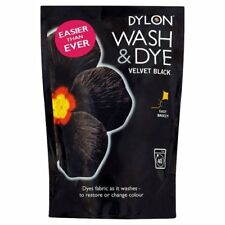 Dylon Wash & Dye Suitable for Natural Fabrics Multi-Purpose Colour: Velvet Black