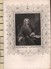 C1830 georgiano Portrait stampa ~ Horatio primo Lord WALPOLE