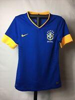 Nike Dri Fit Brasil CBF Authentic Soccer Futbol Jersey Shirt Medium Great Shape!