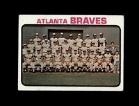 1973 Topps Baseball #521 Atlanta Braves team (Hank Aaron) EXMT
