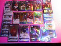 LOT (28) Bowman Chrome Rookie REFRACTORs Orange GOLD Blue Purple, etc