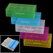 5Pcs 18650 CR123A 16340 Hard Plastic Transparent Battery Box Case Holder Storage