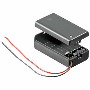 9V Battery Holder with Connection Wire Cable and On Off Switch PP3