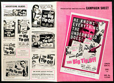 BIG TIP OFF 1955 Richard Conte, Constance Smith, Bruce Bennett UK CAMPAIGN BOOK