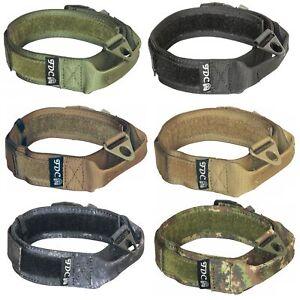 K9 Heavy Duty Dog Tactical Collar HOOK & LOOP Handle Medium Large Plastic Buckle