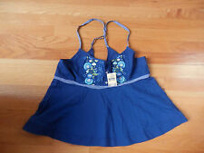 NWT Abercrombie & Fitch Carley Cami Fashion Top Large Navy
