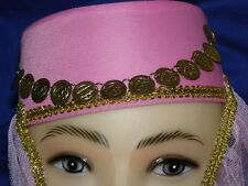 The Harem Hat ! Very Nice and Gorgeous ! Pink Rose !