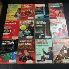 Vintage Popular Electronics Magazines Full Year Run 1964 Ham Radio Cb