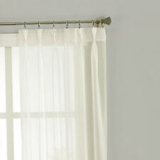 QUICKFIT SHEER STRIPE PINCH PLEAT CURTAINS PAIR EXTRA LONG
