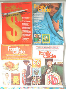 Lot of 4 Vintage Family Circle Magazines  1970 Issues