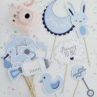 Baby shower Photo Props x 13pcs. Party Decoration in Blue