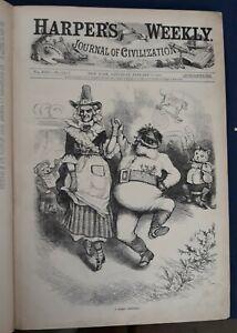Harper's Weekly Newspaper Magazine Bound Volume 1880 Nast Gillam