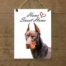 DOBERMANN Home Sweet home mod4 Targa cane piastrella ceramic tile dog