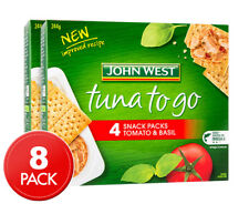 2 X John West Tuna to Go Snack Packs Tomato Basil 4pk 61g